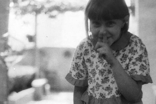 Mónica Laga a los 6 años